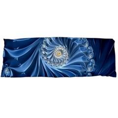 Blue Fractal Abstract Spiral Body Pillow Case (dakimakura)