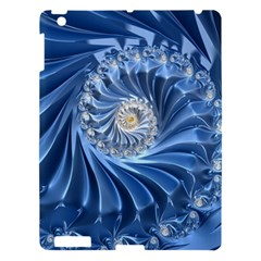 Blue Fractal Abstract Spiral Apple Ipad 3/4 Hardshell Case