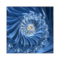 Blue Fractal Abstract Spiral Acrylic Tangram Puzzle (6  X 6 )