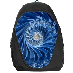 Blue Fractal Abstract Spiral Backpack Bag
