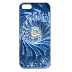Blue Fractal Abstract Spiral Apple Seamless Iphone 5 Case (clear)