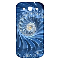 Blue Fractal Abstract Spiral Samsung Galaxy S3 S Iii Classic Hardshell Back Case