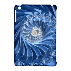 Blue Fractal Abstract Spiral Apple Ipad Mini Hardshell Case (compatible With Smart Cover)