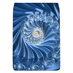 Blue Fractal Abstract Spiral Flap Covers (l)