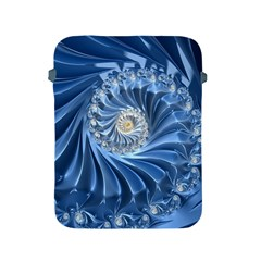 Blue Fractal Abstract Spiral Apple Ipad 2/3/4 Protective Soft Cases