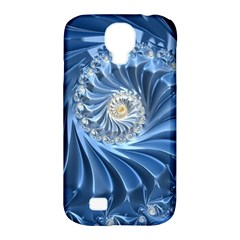 Blue Fractal Abstract Spiral Samsung Galaxy S4 Classic Hardshell Case (pc+silicone)