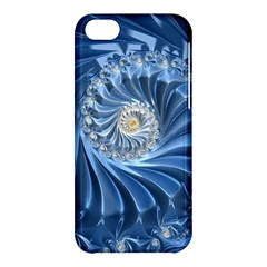 Blue Fractal Abstract Spiral Apple Iphone 5c Hardshell Case