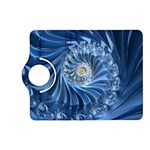 Blue Fractal Abstract Spiral Kindle Fire HD (2013) Flip 360 Case Front