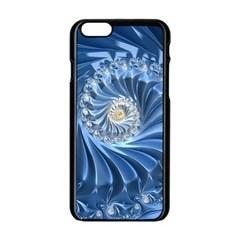 Blue Fractal Abstract Spiral Apple Iphone 6/6s Black Enamel Case