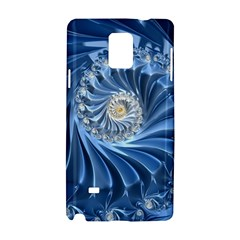 Blue Fractal Abstract Spiral Samsung Galaxy Note 4 Hardshell Case