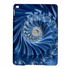 Blue Fractal Abstract Spiral Ipad Air 2 Hardshell Cases