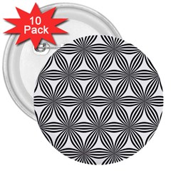 Seamless Pattern Repeat Line 3  Buttons (10 Pack)