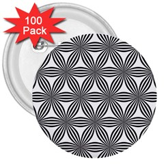 Seamless Pattern Repeat Line 3  Buttons (100 Pack)
