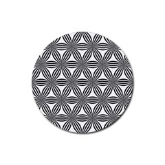 Seamless Pattern Repeat Line Rubber Coaster (round)