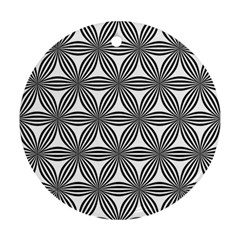 Seamless Pattern Repeat Line Round Ornament (two Sides)