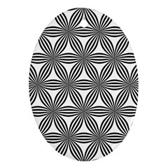 Seamless Pattern Repeat Line Oval Ornament (two Sides)