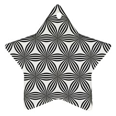 Seamless Pattern Repeat Line Star Ornament (two Sides)
