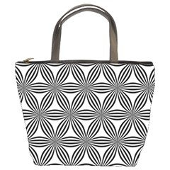Seamless Pattern Repeat Line Bucket Bags