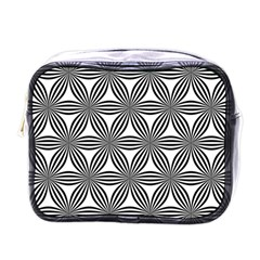 Seamless Pattern Repeat Line Mini Toiletries Bags