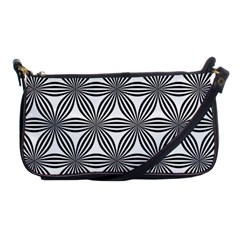 Seamless Pattern Repeat Line Shoulder Clutch Bags