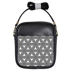 Seamless Pattern Repeat Line Girls Sling Bags