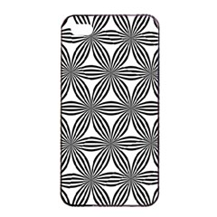 Seamless Pattern Repeat Line Apple Iphone 4/4s Seamless Case (black)