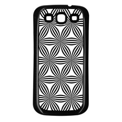 Seamless Pattern Repeat Line Samsung Galaxy S3 Back Case (black)