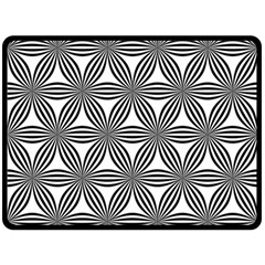 Seamless Pattern Repeat Line Double Sided Fleece Blanket (large)