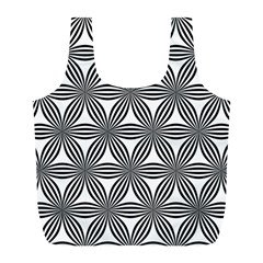Seamless Pattern Repeat Line Full Print Recycle Bags (l)