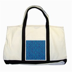 Monogram Blue Purple Background Two Tone Tote Bag