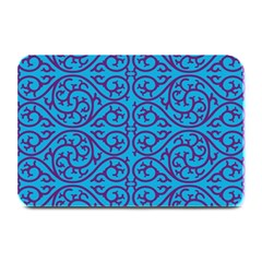 Monogram Blue Purple Background Plate Mats