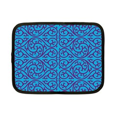 Monogram Blue Purple Background Netbook Case (small)