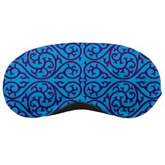 Monogram Blue Purple Background Sleeping Masks