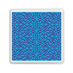 Monogram Blue Purple Background Memory Card Reader (square)