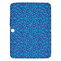 Monogram Blue Purple Background Samsung Galaxy Tab 3 (10 1 ) P5200 Hardshell Case