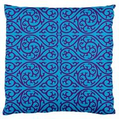 Monogram Blue Purple Background Large Flano Cushion Case (one Side)