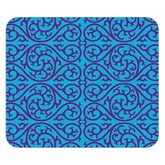 Monogram Blue Purple Background Double Sided Flano Blanket (small)