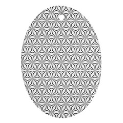 Seamless Pattern Monochrome Repeat Ornament (oval)