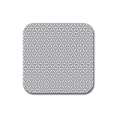 Seamless Pattern Monochrome Repeat Rubber Square Coaster (4 Pack)