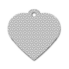 Seamless Pattern Monochrome Repeat Dog Tag Heart (two Sides)