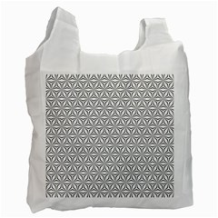 Seamless Pattern Monochrome Repeat Recycle Bag (two Side)