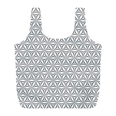 Seamless Pattern Monochrome Repeat Full Print Recycle Bags (l)