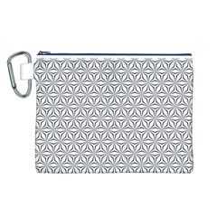 Seamless Pattern Monochrome Repeat Canvas Cosmetic Bag (l)
