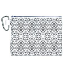 Seamless Pattern Monochrome Repeat Canvas Cosmetic Bag (xl)