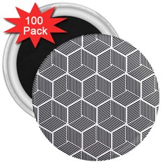 Cube Pattern Cube Seamless Repeat 3  Magnets (100 Pack)