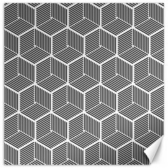 Cube Pattern Cube Seamless Repeat Canvas 12  X 12
