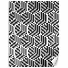 Cube Pattern Cube Seamless Repeat Canvas 12  X 16