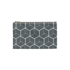 Cube Pattern Cube Seamless Repeat Cosmetic Bag (small)