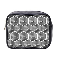 Cube Pattern Cube Seamless Repeat Mini Toiletries Bag 2 Side
