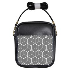 Cube Pattern Cube Seamless Repeat Girls Sling Bags